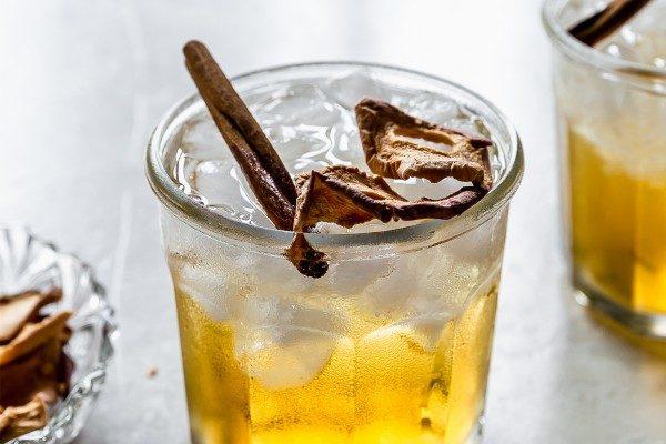 Apple Bourbon Smash Cocktail